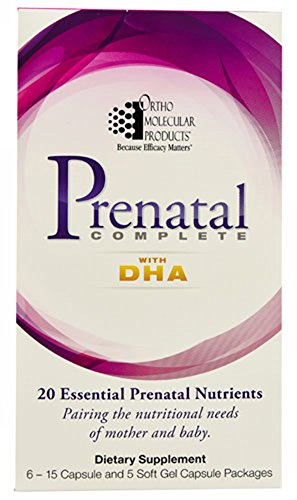 - Ortho Molecular - Prenatal Complete with DHA - 30 day supply (6 - 15 capsule and 5 softgel capsule packages)