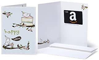 Amazon.com $100 Gift Card in a Greeting Card (Birthday Birds Design) (BT00CTP57I) | Amazon price tracker / tracking, Amazon price history charts, Amazon price watches, Amazon price drop alerts