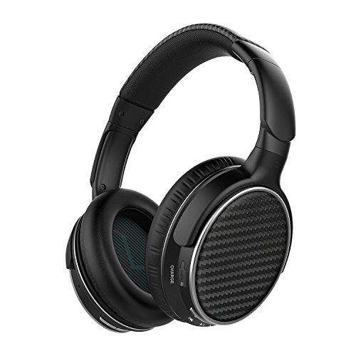 Mixcder HD401 Bluetooth Headphones Over Ear, Hi-Fi Stereo Wireless Headset, aptX Sound, Soft Memory-Protein Earmuffs, Built-in Mic and Wired Mode for PC/Cell - Amplified Headphones
