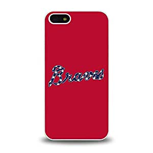 iPhone 5 5S case protective skin back cover with MBL National League Atlanta Braves Team Logo 2014 Latest - 1