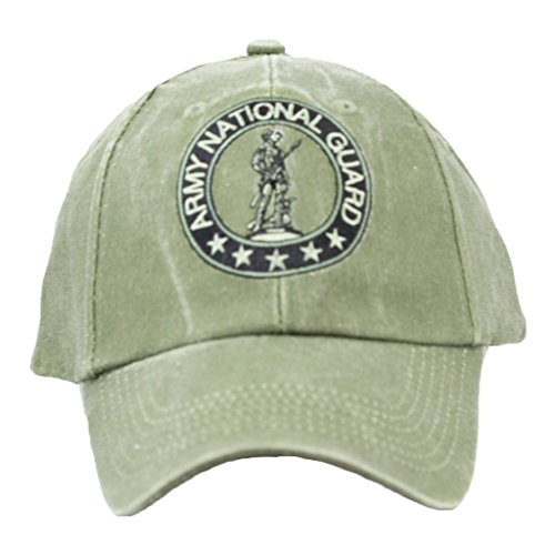 Eagle Crest Army National Guard Baseball cap hat, Green, One Size