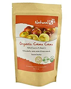 Natural Rx Supplements Camu Camu Powder - Raw, Pure, Natural, Wildcrafted (1/2 pound Bag)