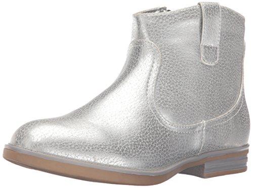 Kenneth Cole REACTION Girls' Wild Bunch-K Western Boot, Silver, 6 M US Big Kid