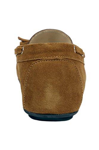 100% Braun Leder Ubergrossen Damen Mokassin extra soft super confort MADE IN ITALY