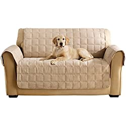 Sure Fit Ultimate Waterproof Quilted Throw - Loveseat Slipcover - Taupe (SF45307)