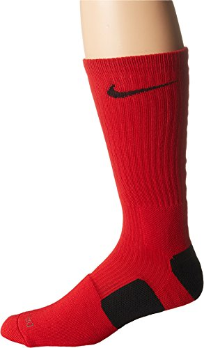 Nike Dri-FIT Elite Crew Basketball Socks Red/Black Size Large