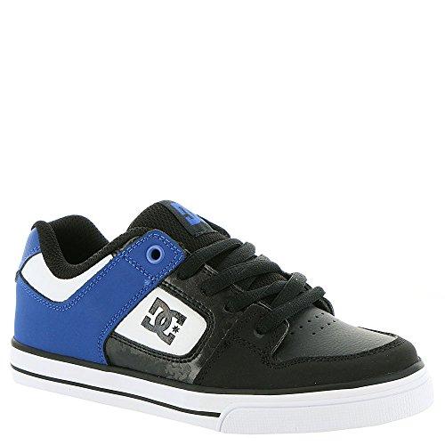 DC Boys' Youth Pure Skate Shoe, Black/Blue/White, 11 M US Little Kid