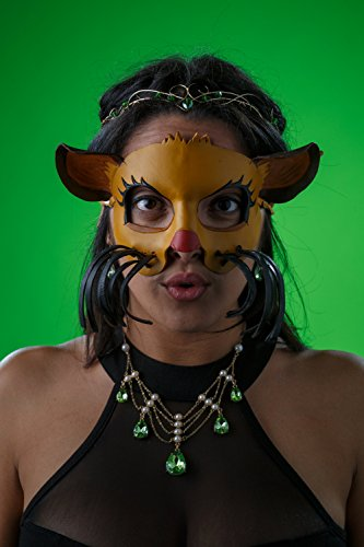 Lion Handmade Genuine Leather Mask for Masquerade Cosplay or Halloween Costumes - Lion in the Den (Handmade Lion Mask)