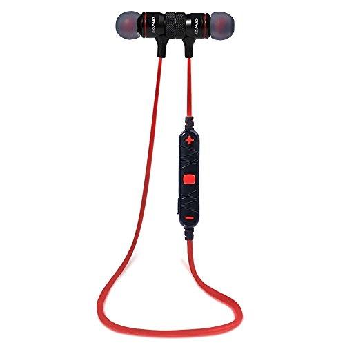 Awei A920BL Wireless Bluetooth 4.0 Sport Stereo Earphone (Red) - 1