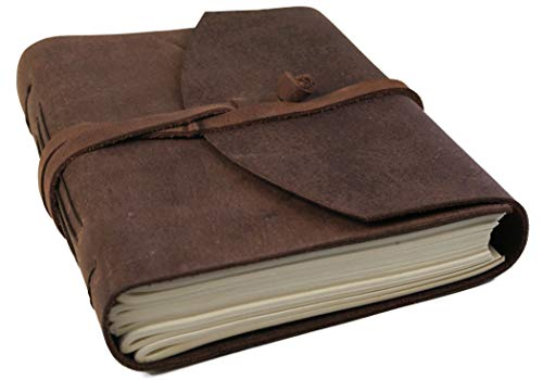 Life Arts Handmade Enya Leather Journal Rustic Tan, A5 Plain Pages