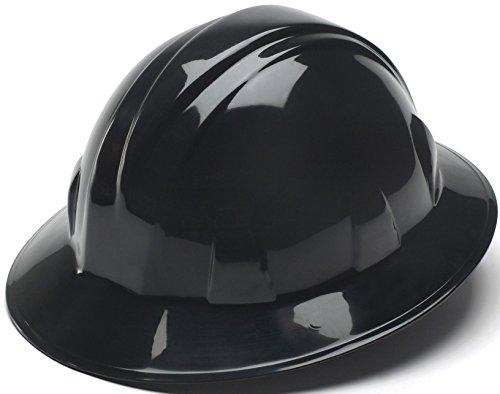 1 · Pyramex Black Full Brim Style 4 Point Ratchet Suspension Hard Hat 2675a74590e3