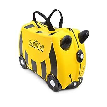 Trunki Bernard Bee Ride-On Suitcase, Yellow
