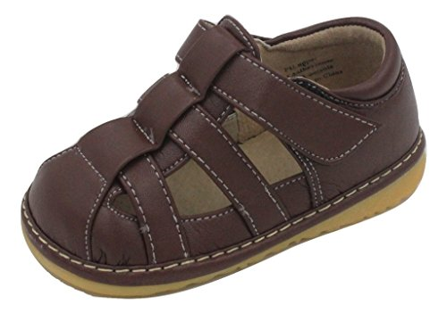 Squeaky Shoes | Brown Toddler Boy Sandals Shoes