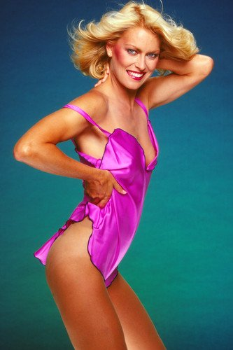 Randi Oakes sexy revealing photo shoot CHIPS star in negligee 24x36 Poster by Silverscreen