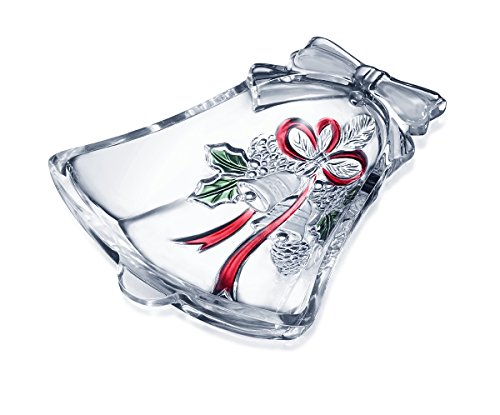 Holiday Candy Dish (Celebrations by Mikasa Holiday Bells Crystal Bell Candy Dish, 6.75-Inch)