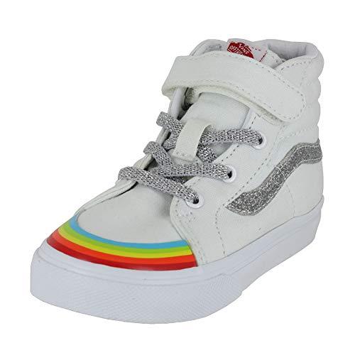 Vans Kids Baby Girl's SK8-Hi Reissue 138 V (Infant/Toddler) (Rainbow Toe Cap) True White/Silver 2 9 M US - Kids Top Vans High