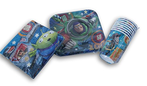 Toy Story Birthday Party Set - Cake Plates, Napkins, (7' Square Dessert Plates)