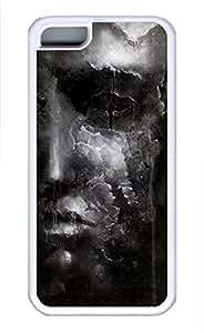 iPhone 5c case, Cute Broken Face iPhone 5c Cover, iPhone 5c Cases, Soft Whtie iPhone 5c Covers