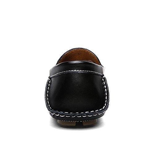 con da morbidi Mocassini da guida guida suola Color Marrone Slip 2018 piatta Nero Hongjun Dimensione Mocassini on uomo 43 EU shoes q0Ew5FpI