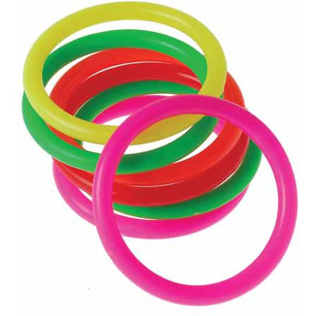 US Toy Neon Mini Carnival Game Rings Toys