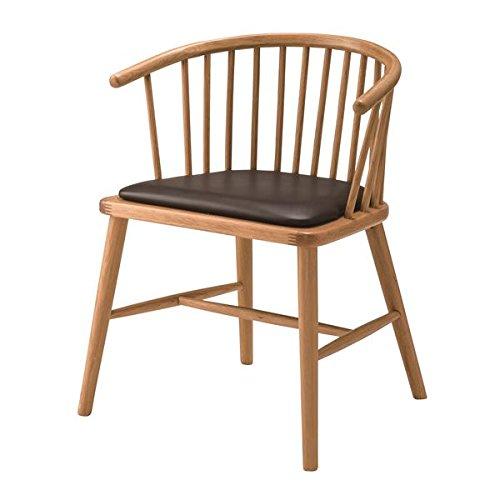 ウィンザーチェア風ダイニングチェア/リビングチェア 【肘付き】 天然木フレーム 張地:合成皮革/合皮 HOC-76 生活用品 インテリア 雑貨 インテリア 家具 椅子 その他の椅子 top1-ds-1937288-ak [簡易パッケージ品] B075P3BBPW
