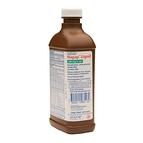 Major Pharmaceuticals Mapap Liquid Acetaminophen 160 mg Cherry 16 oz ()