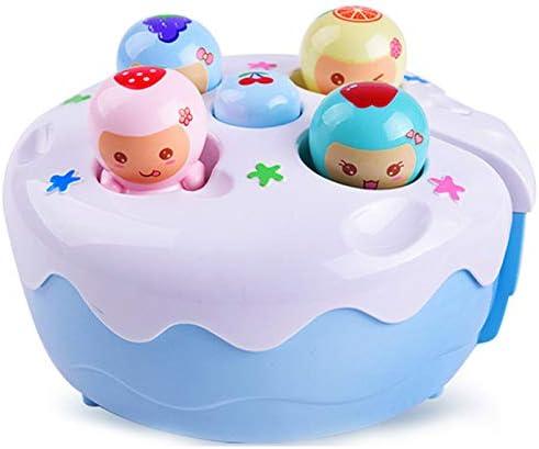 JVSISM Handhalt Whack-A-Mole Spiel Maschine Elektro Hamster Baby Spielzeug Sound Licht Obst Kuchen Klopfen Musik Spiel Fr/üHen P?Dagogisches Spielzeug