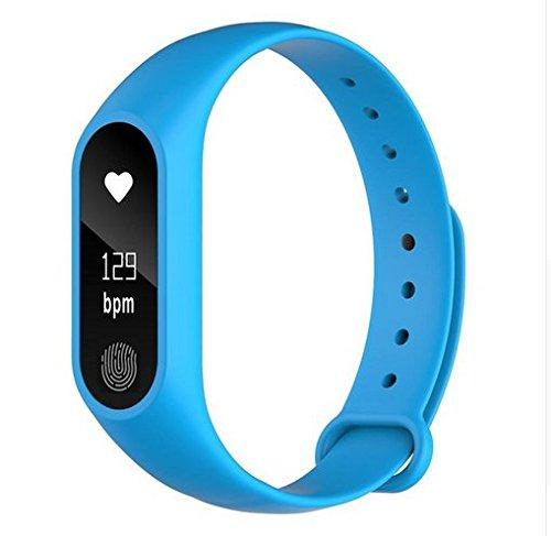 Pulsera Inteligente,M2PULS,Fitness Tracker con Pulsómetros,Cronómetro,GPS para Running,Monitor de Ritmo Cardiac,Notificación de Mensajes,Impermeable ...