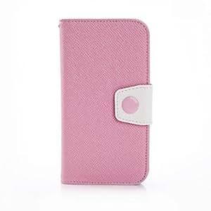 Mini - Color Blocking Leather Case for Samsung Galaxy S5 I9600 ,Color: Black