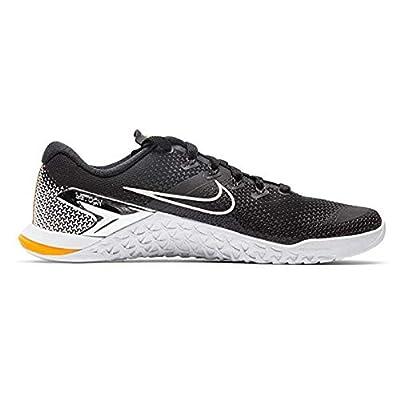 Nike Metcon 4 Premium Mens Cross Training Shoes (14 M US, Black/White-Laser Orange)