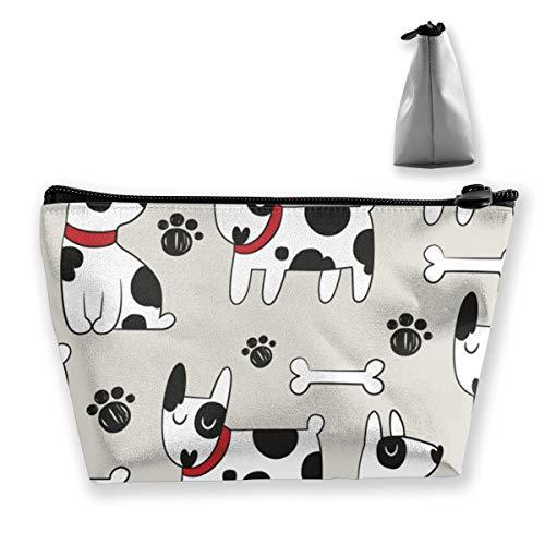 - Wpipbag Dog Animal Dalmatians Bone Paws Women's Makeup Bag Cosmetic Toiletry Travel Purse Bag for Mens