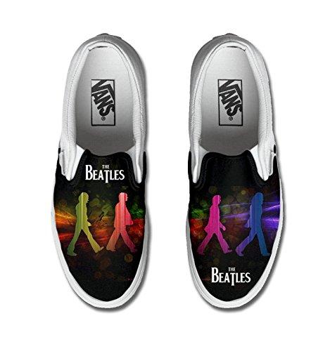 Vans personalizzate U CLASSIC SLIP-ON, Sneaker Unisex Adulto(Prodotto Artigianale) Beatles