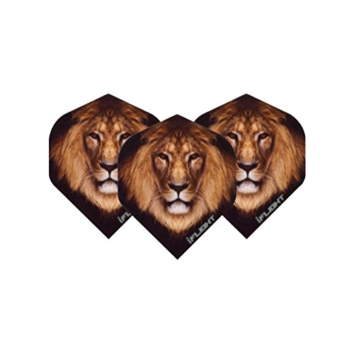 Lion Extra Thick Dart Flights 4 sets per pack (12 flights in total) & Red Dragon Checkout Card
