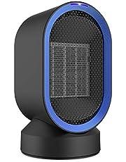NEXGADGET Mobiler Heizlüfter/Ventilator mit 90°Oszillationsfunktion, 3 Stufen 950W / 650W / 5W, 2 Modi Warm & Natürlich, Schutz vor Überhitz & Umkipp, Verstecktem Bügel Schnellheitzer für Büro, Haus