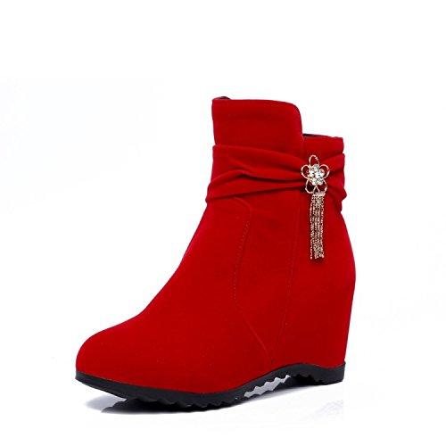 39 De Red Cotton Botas You Luck Tubo For Black Un Solo Womens Invierno 34 Ladies All match Más Agecc Mujer Altas Para Gran Winter Boots Corto Tamaño Good qnRIwx4U