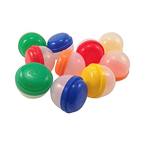"""2"""" Plastic Vending Machine Capsules by Acorn Pods (50 qty). Perfect for DIY Craft Supplies, Kids Crafts, Party Favor Containers, Favor Bags and Favor Boxes, Candy and - Treasure Ball"""
