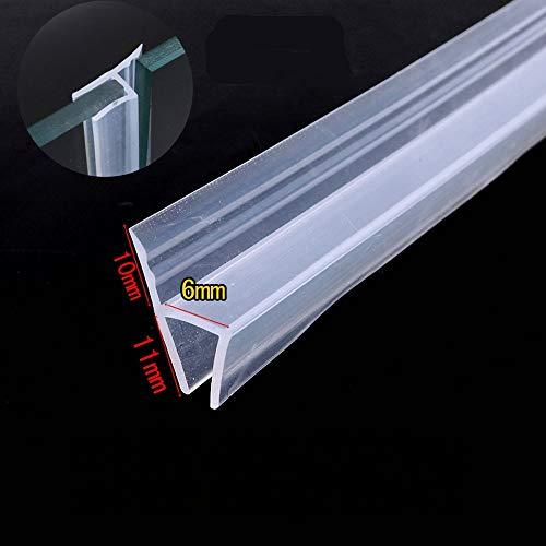 Sliding Sash visualización ducha puerta ventana balcón juntas de silicona franja de vidrio de 6mm de 1/10,2cm de grosor...