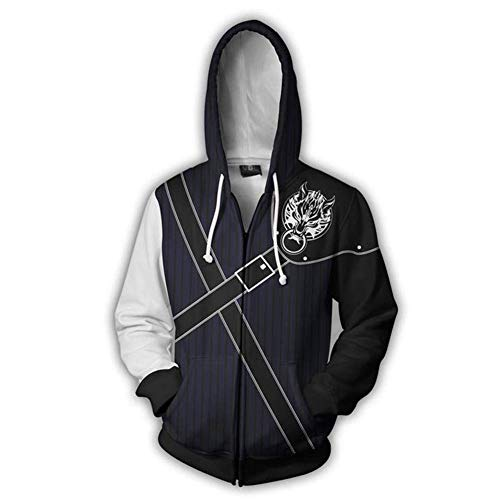 - Mikucos Final Fantasy Coat Hooded Hoodie Sweater Costume Cosplay Jacket Cloud Strife XL