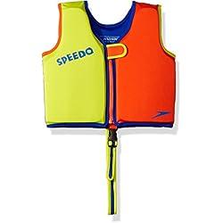 Speedo Kids UPF 50+ Begin to Swim Classic Swim Vest, Lime/Orange, Large