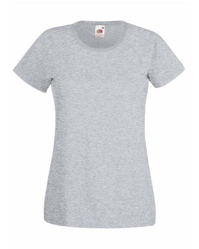 FOTL Lady Fit Valueweight T Shirt Colour=Heather Grau Größe=XL