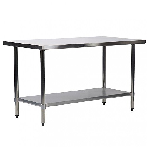 BestMassage 24''x60'' Stainless Steel Kitchen Work Table Commercial Kitchen Restaurant Table by BestMassage (Image #4)