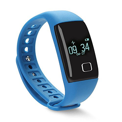 VERTTEE Smart Bracelet Fitness Tracker Smartband Bluetooth 4.0 Sport Pedometer Monitor With Heart Rate Monitor