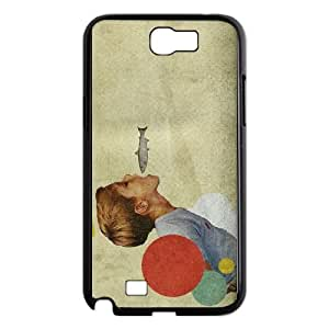 Samsung Galaxy N2 7100 Cell Phone Case Black E.A.T Collage Pkech