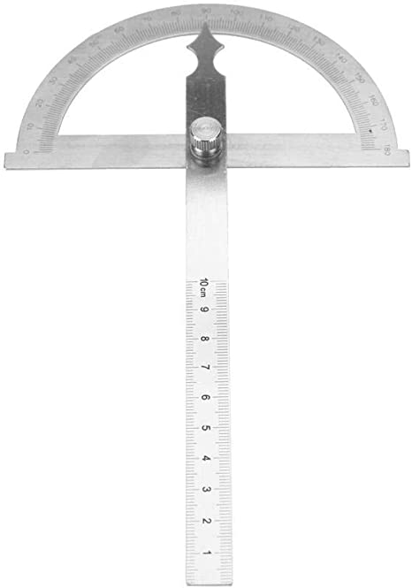 Protractor Ruler, Goniometer Ruler, Stainless Steel Angle Finder Ruler with Locking Nut, Ruler and Protractor 2 in 1 Combination for Easy Measuring and Clearly Display(120150mm) - - Amazon.com
