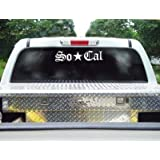 """Giant SO-CAL Two Foot (24"""") White Vinyl Sticker/Decal (Southers California)"""