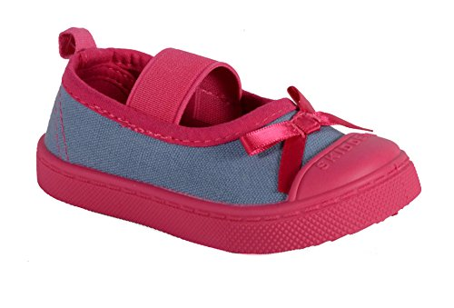 Pictures of SKIDDERS Baby Toddler Girl's Canvas Walking Mary Jane Shoes Style SK1062 (2) 1
