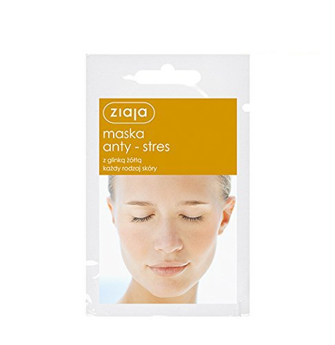 3 X ZIAJA FACE MASK - ANTI-STRESS - WITH YELLOW CLAY - ALL SKIN TYPES