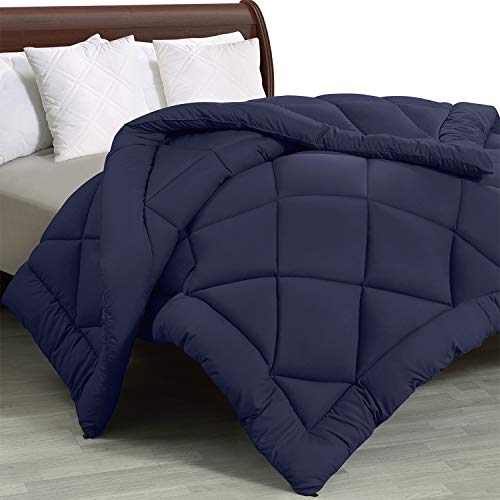 Utopia Bedding - All Season Quilted Duvet Insert - Goose Down Alternative Comforter - Full/Queen - Navy