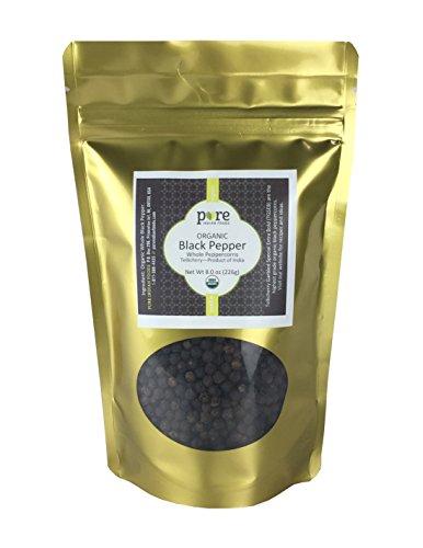 ppercorns, Certified Organic (8 oz) (Tellicherry Black Pepper)