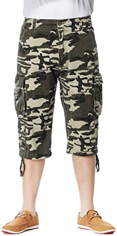NEWCOSPLAY Men`s All-Season Cargo Pants Cotton Twill Cargo Shorts